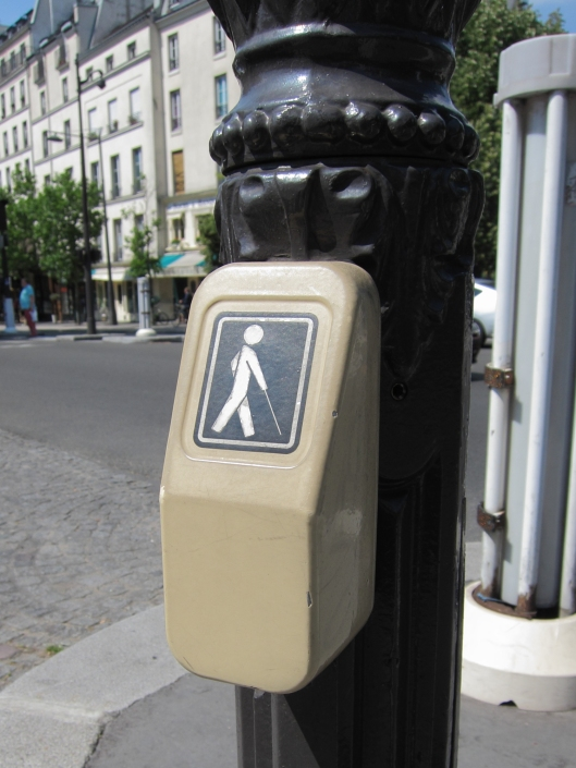 Blind Person's Walk Button.