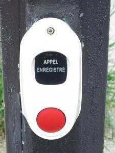 Regular walk button. Ok to push this!