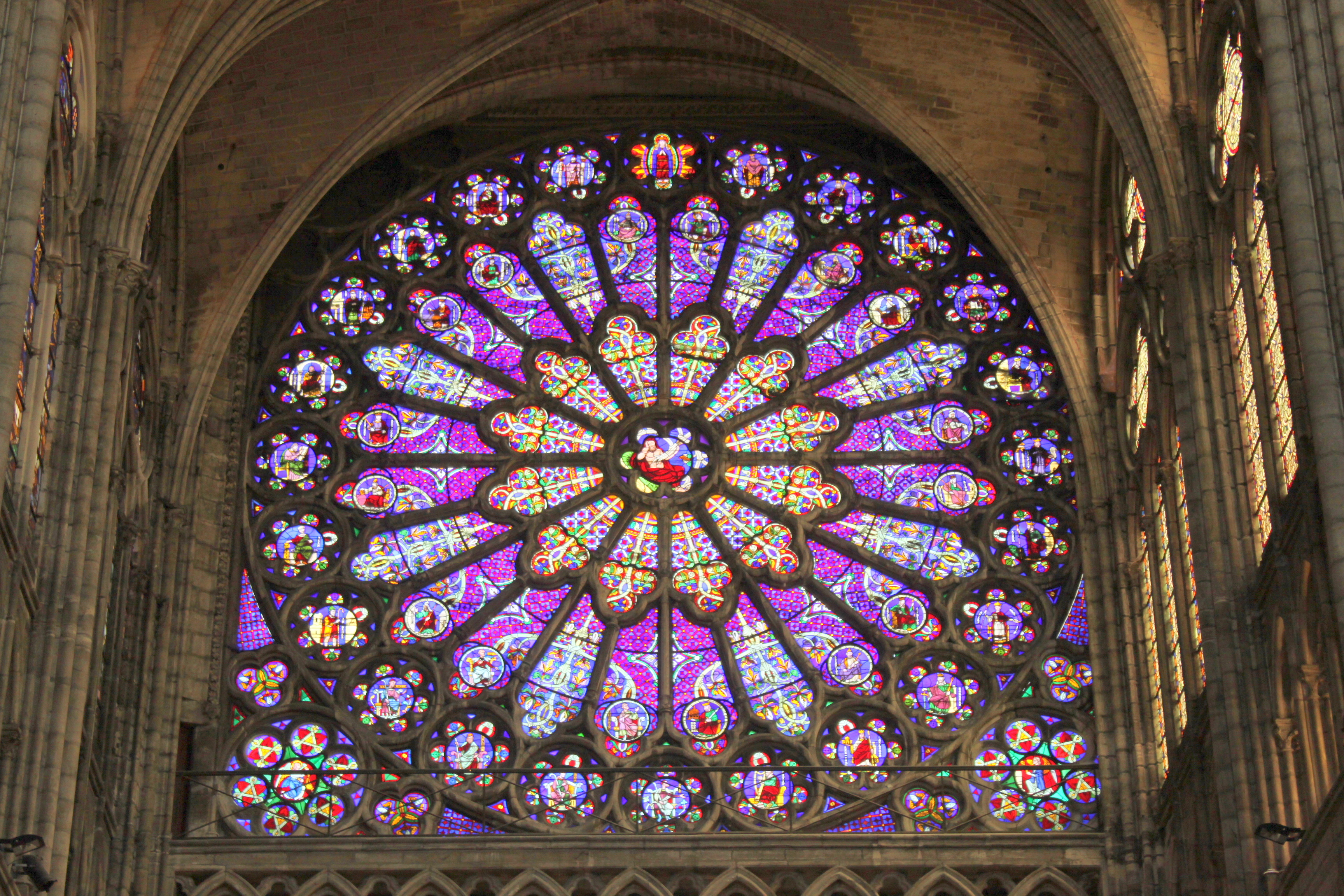 rose window at the basilica of st denis basilica saint denis