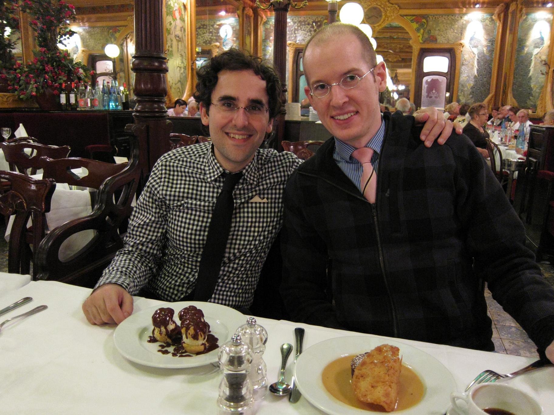 Alan and Ryan at Brasserie Julien
