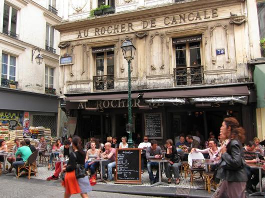 Au Rocher de Cancale, rue Montorgueil