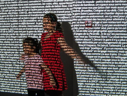 Projected Words 'Gare du Nord'