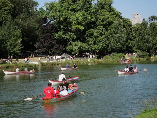 Rowboats on the Lake at the Bois de Vincennes
