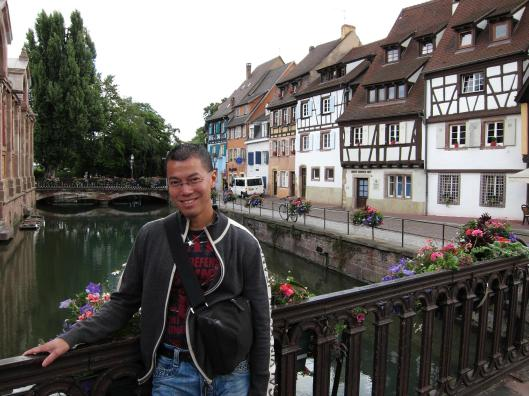 Jacques on a Bridge over the Canal L'Ill, Strasbourg