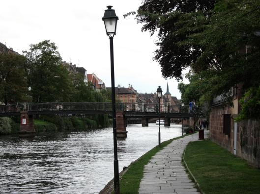 Lamps on Canal, Strasbourg