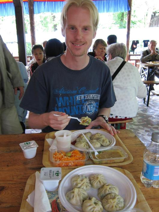 Michael at Lunch in the Buddhist Temple