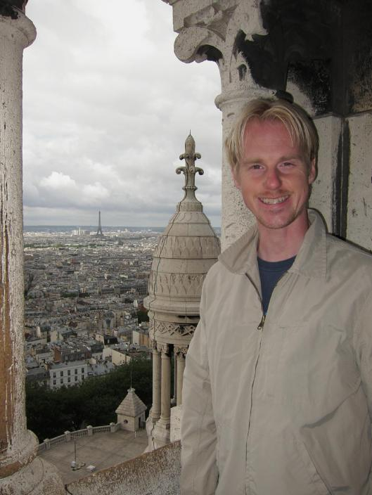 Michael with View from Sacré Coeur