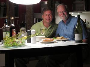 Rafael and Bob with Dinner
