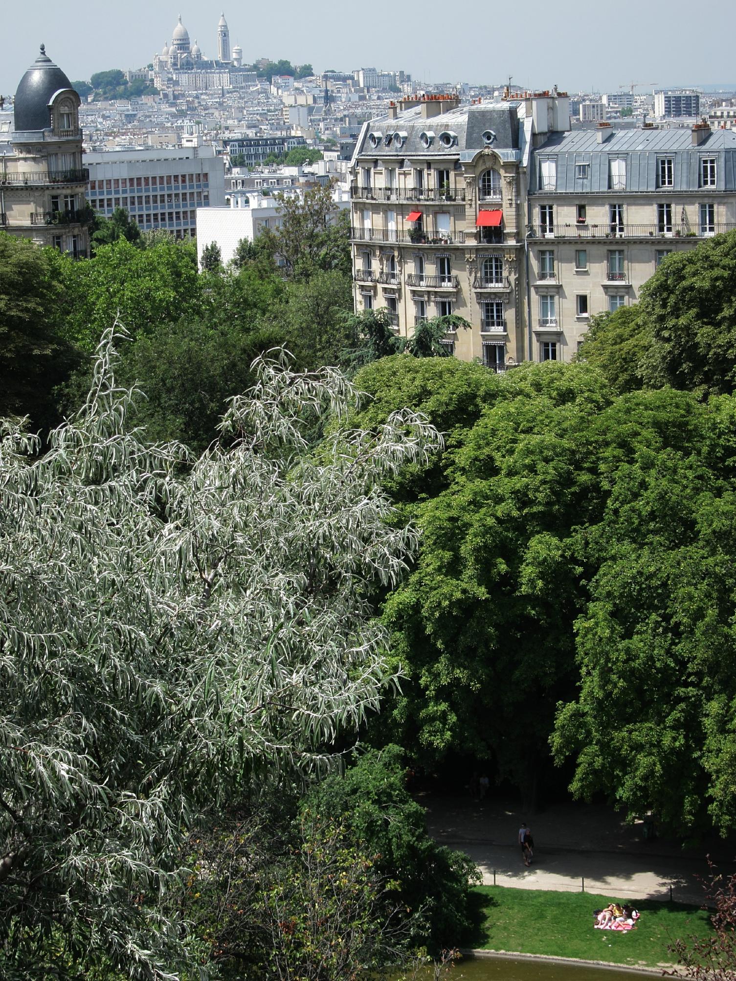 View from Parc des Buttes Chaumont