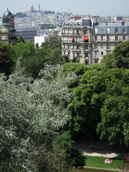 View from Parc des Buttes Chaumont