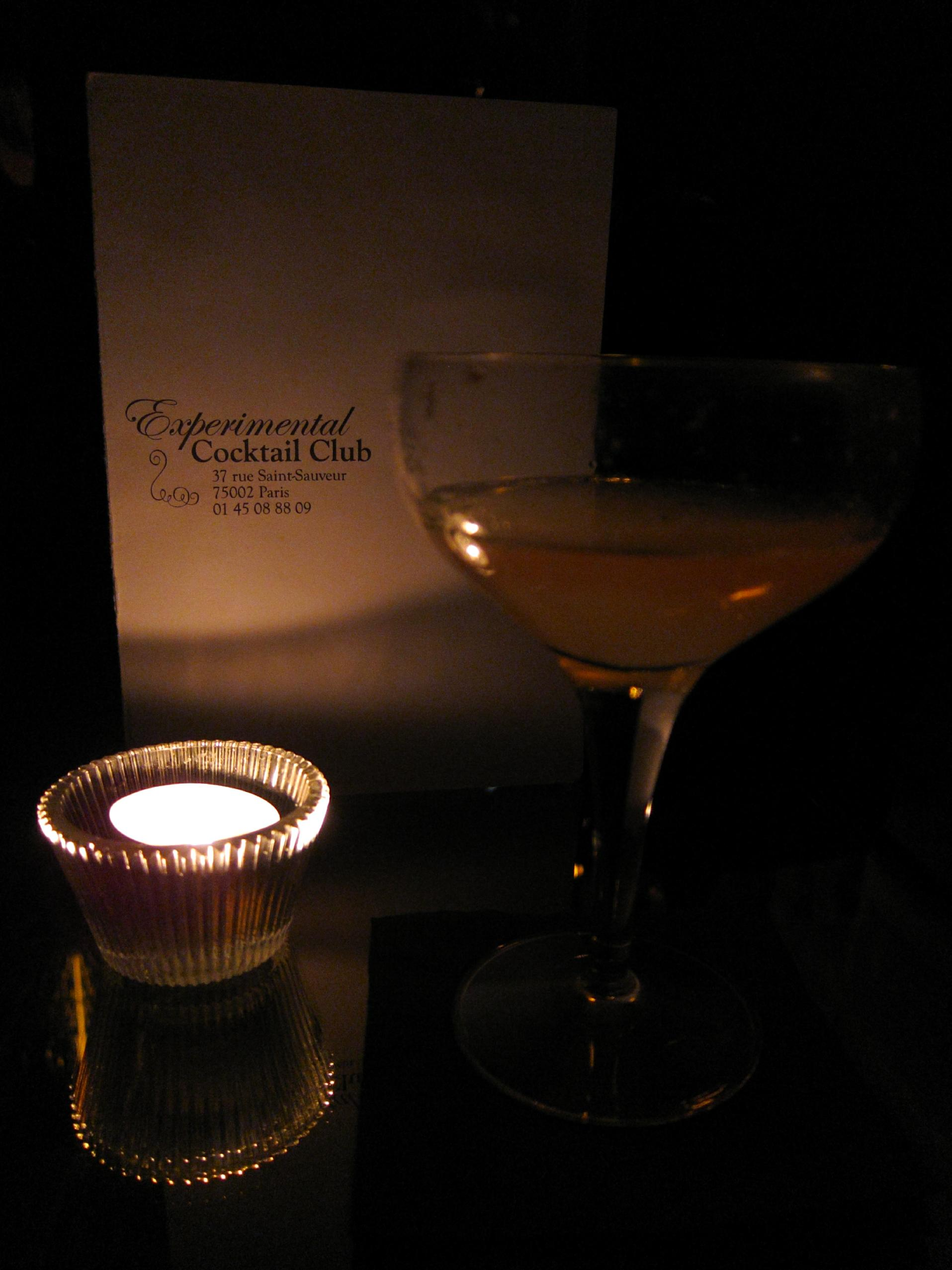 Experimental Cocktail Club - Old Havana, Candle and Menu