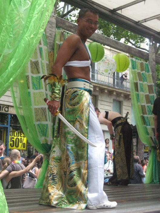 Jacques as an Asian Prince at Paris Gay Pride 2012