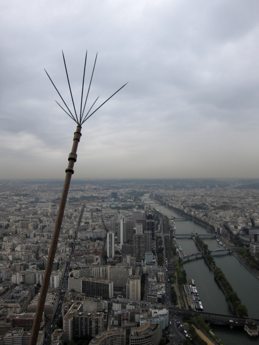 Lightning Rod and View from Eiffel Tower