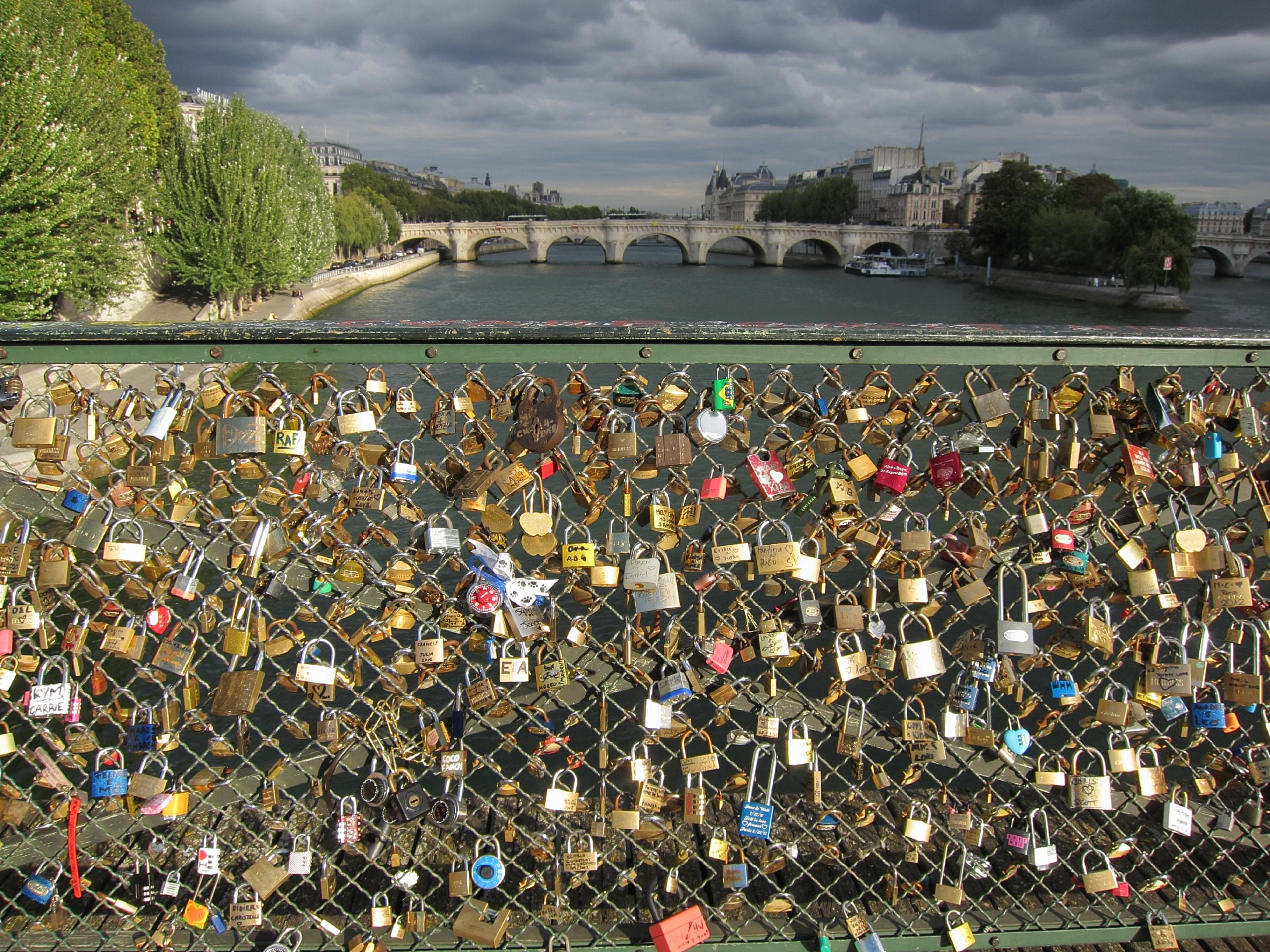 Lovers Locks on the Pont des Arts