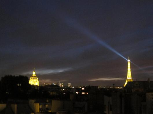 The Eiffel Tower and Les Invalides from Antoine's Roof Deck