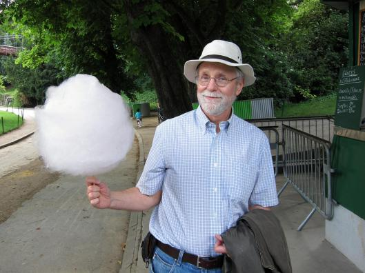 "The French for cotton candy is «barbe à papa», i.e. ""papa's beard."""