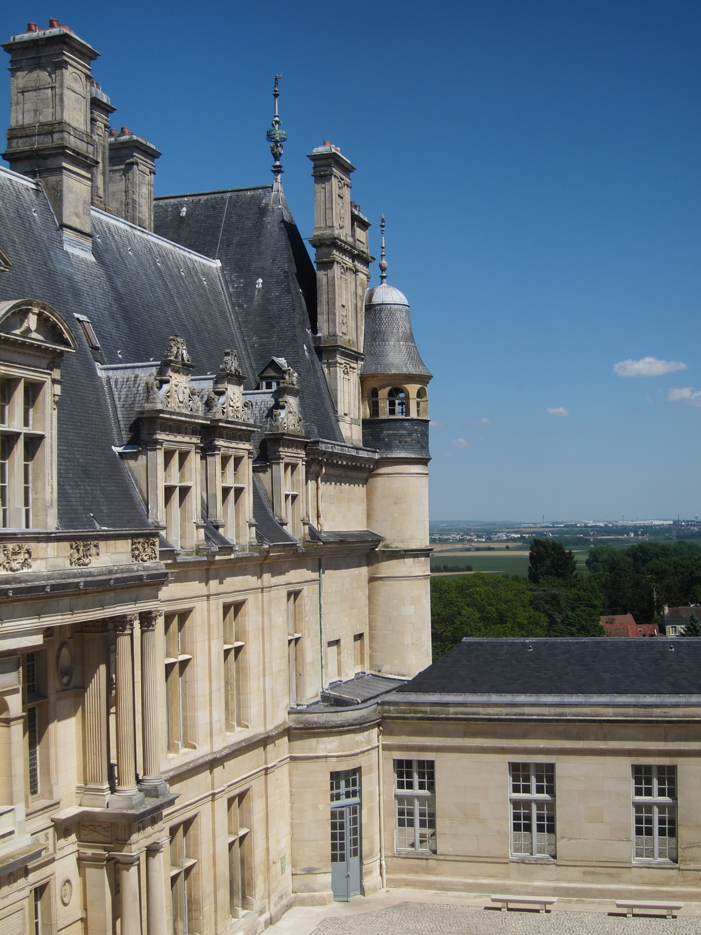 The Château d'Ecouen affords some nice views over the valley.