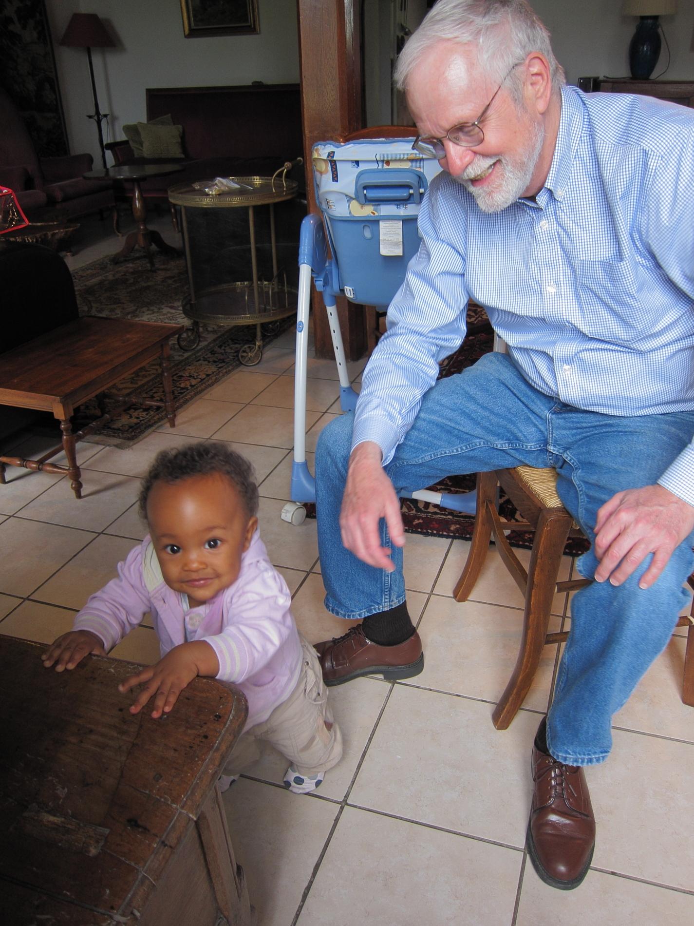 """Uncle Bob"" enjoying some quality time with Aya."