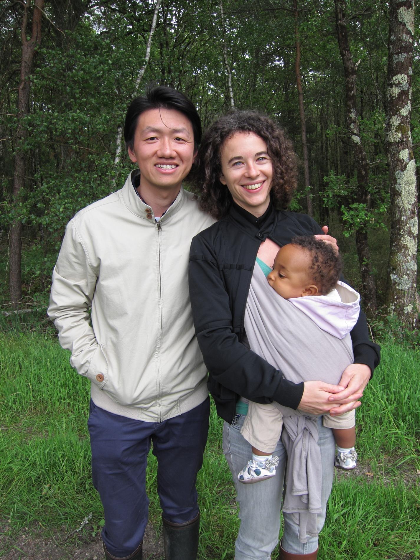 Zhizhong, Lisa and Aya, at l'étang Robert.