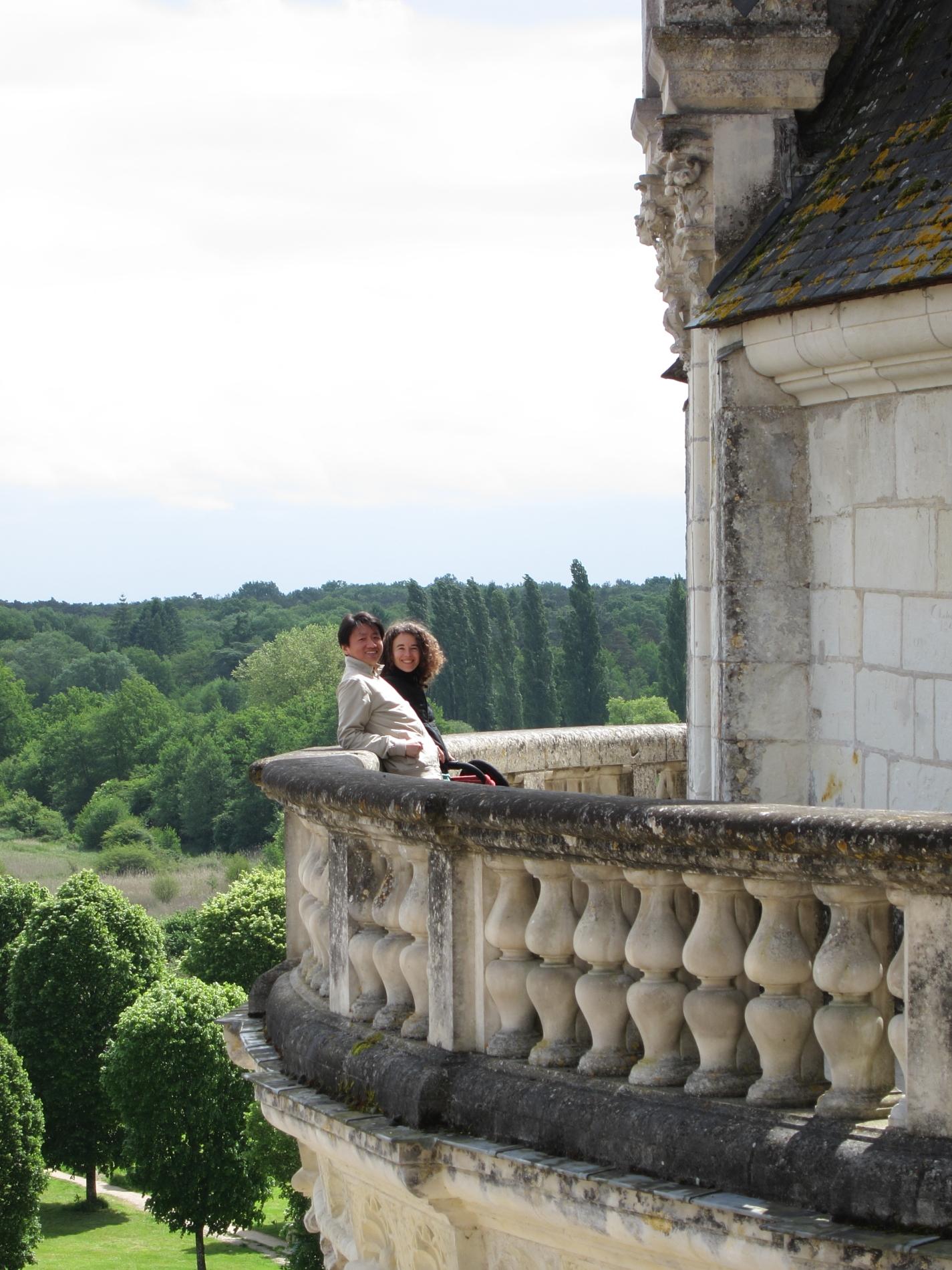 Zhizhong and Lisa at le château de Chambord.