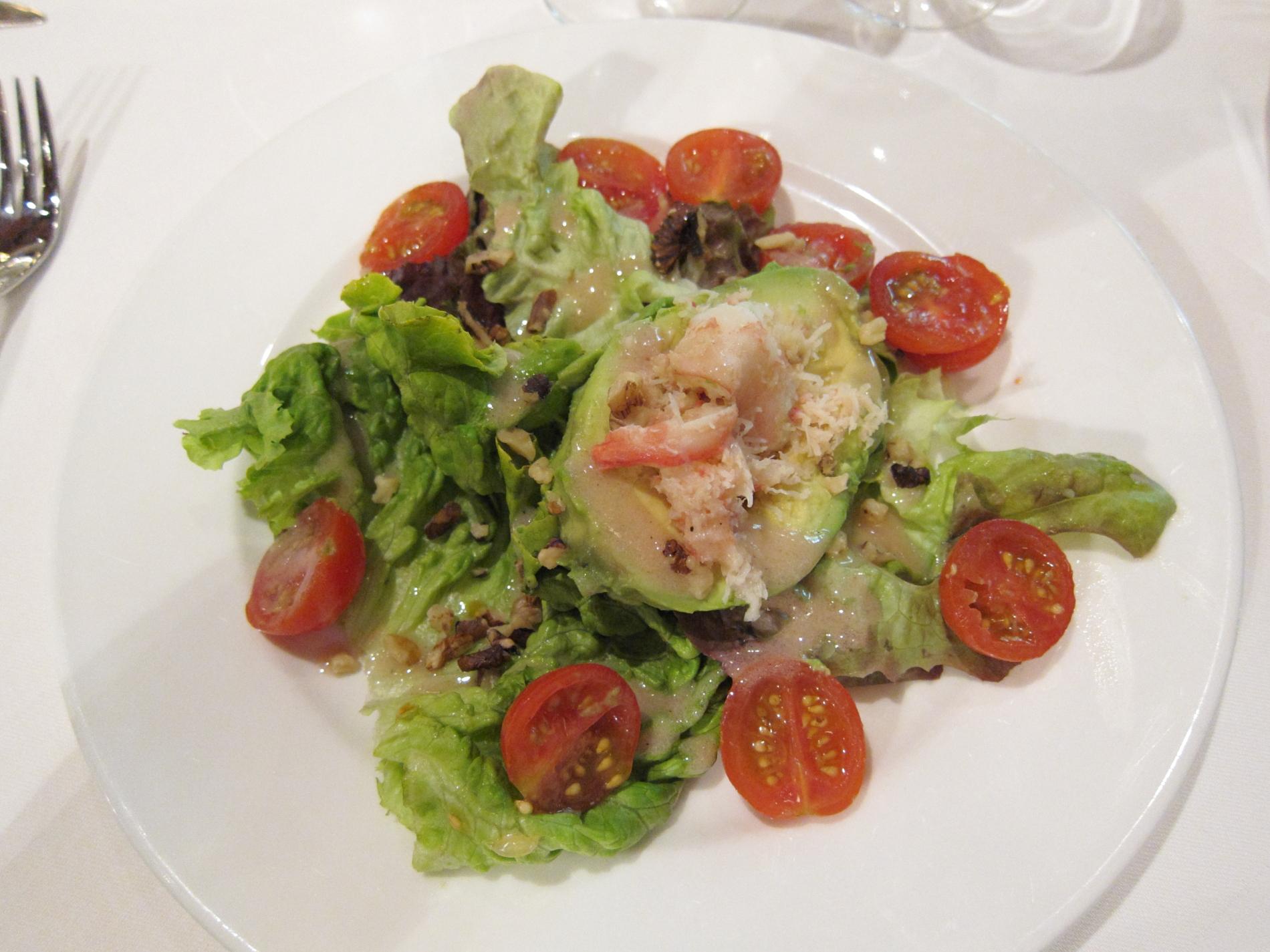 Bob's entrée at the Restaurant du Grand Saint Michel in Chambord.