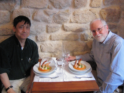 Larry Tu and Bob Mack at Aux Trois Petits Cochons, now in Montmartre.