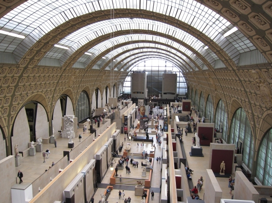 The Musée d'Orsay was formerly a railroad station.