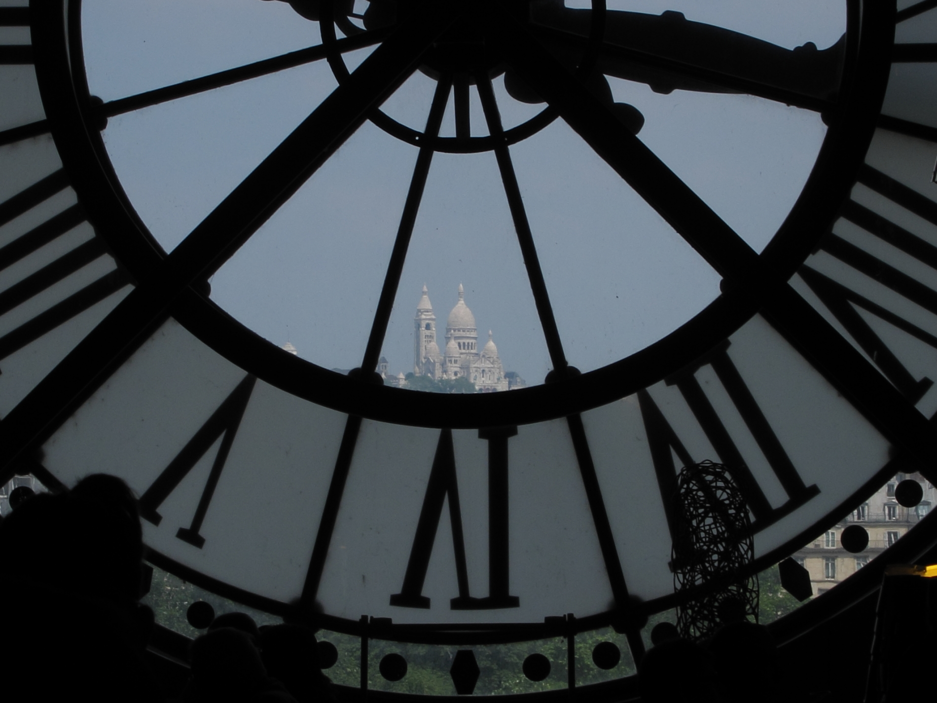 A favorite glimpse of Sacré Coeur from the café of the Musée d'Orsay.