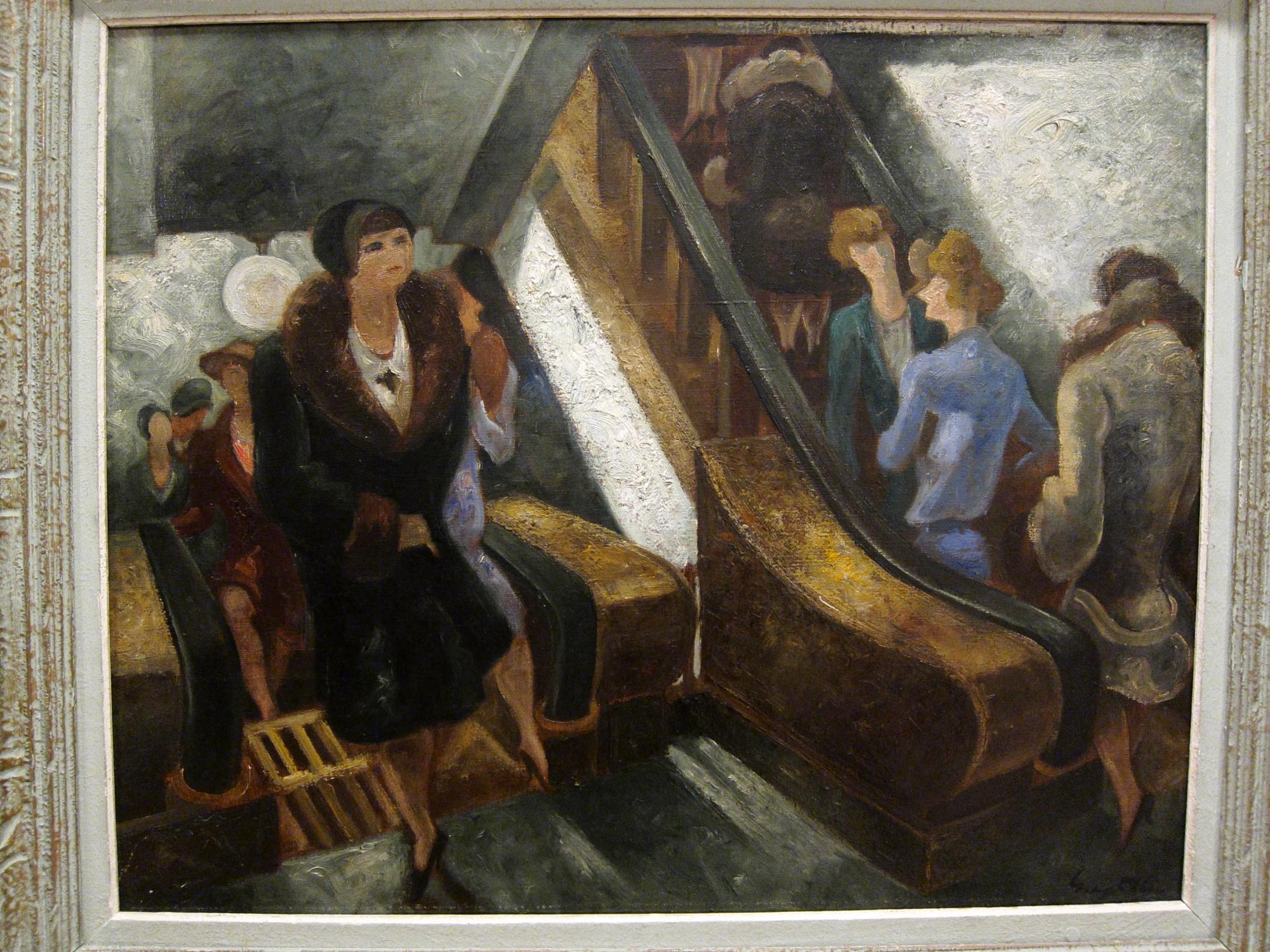 Yves Alix, L'escalier roulante (1928). Musée Carnavalet.