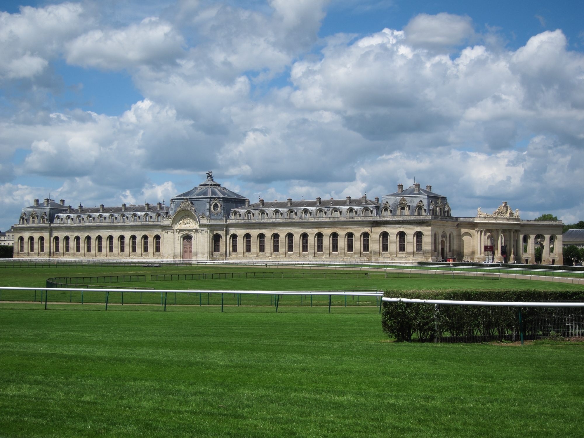 The Great Stables at the Château de Chantilly.