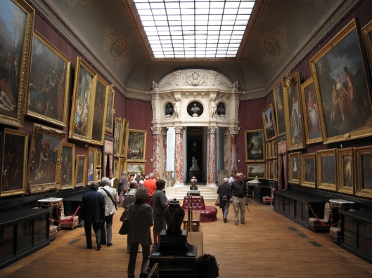 Largest gallery room at the Château de Chantilly.