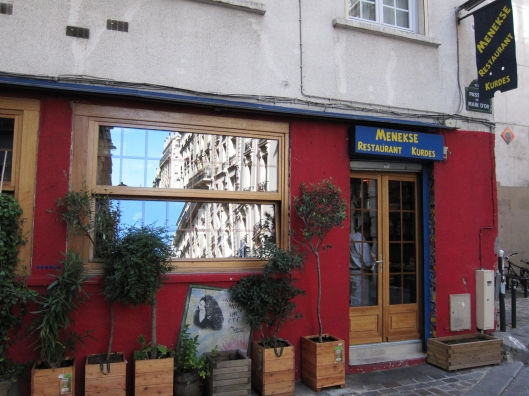 A Kurdish restaurant on a passage off rue du Faubourg Saint-Antoine that I want to try.