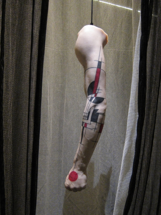 Latex model of a tatooed arm. At musée du quai Branly.