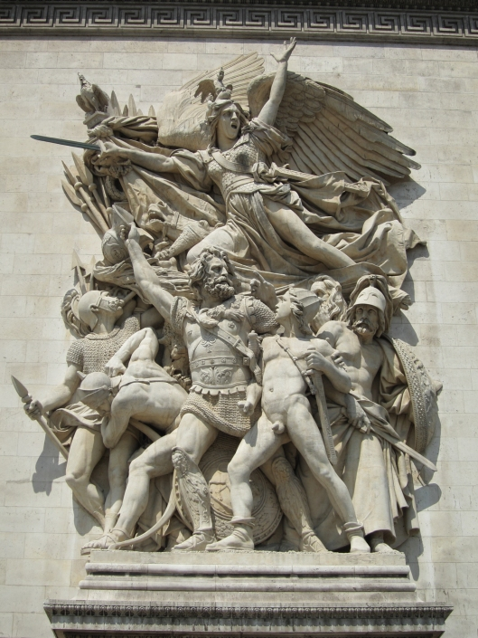 Wimps sometimes ask why there are so many wars. Because they're fun! Sculpture on the Arc de Triomphe.