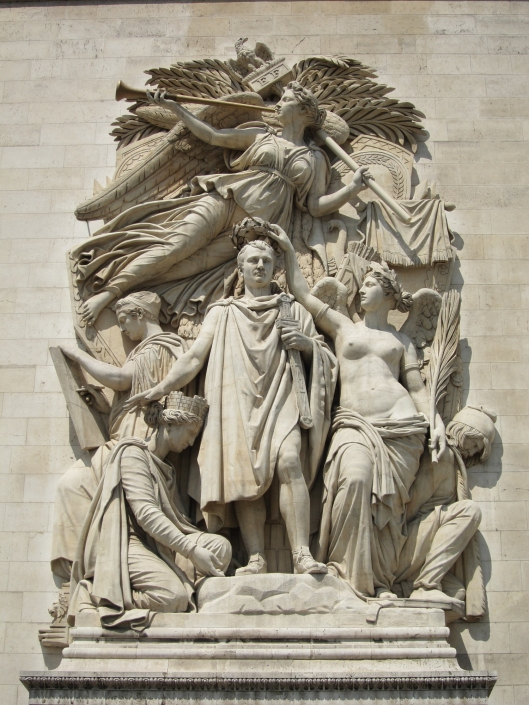 If only he'd known when to stop! Napoleon on the Arc de Triomphe.