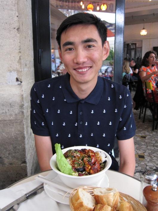 Yunpeng at Pause Café on Rue de Charonne, Bastille.