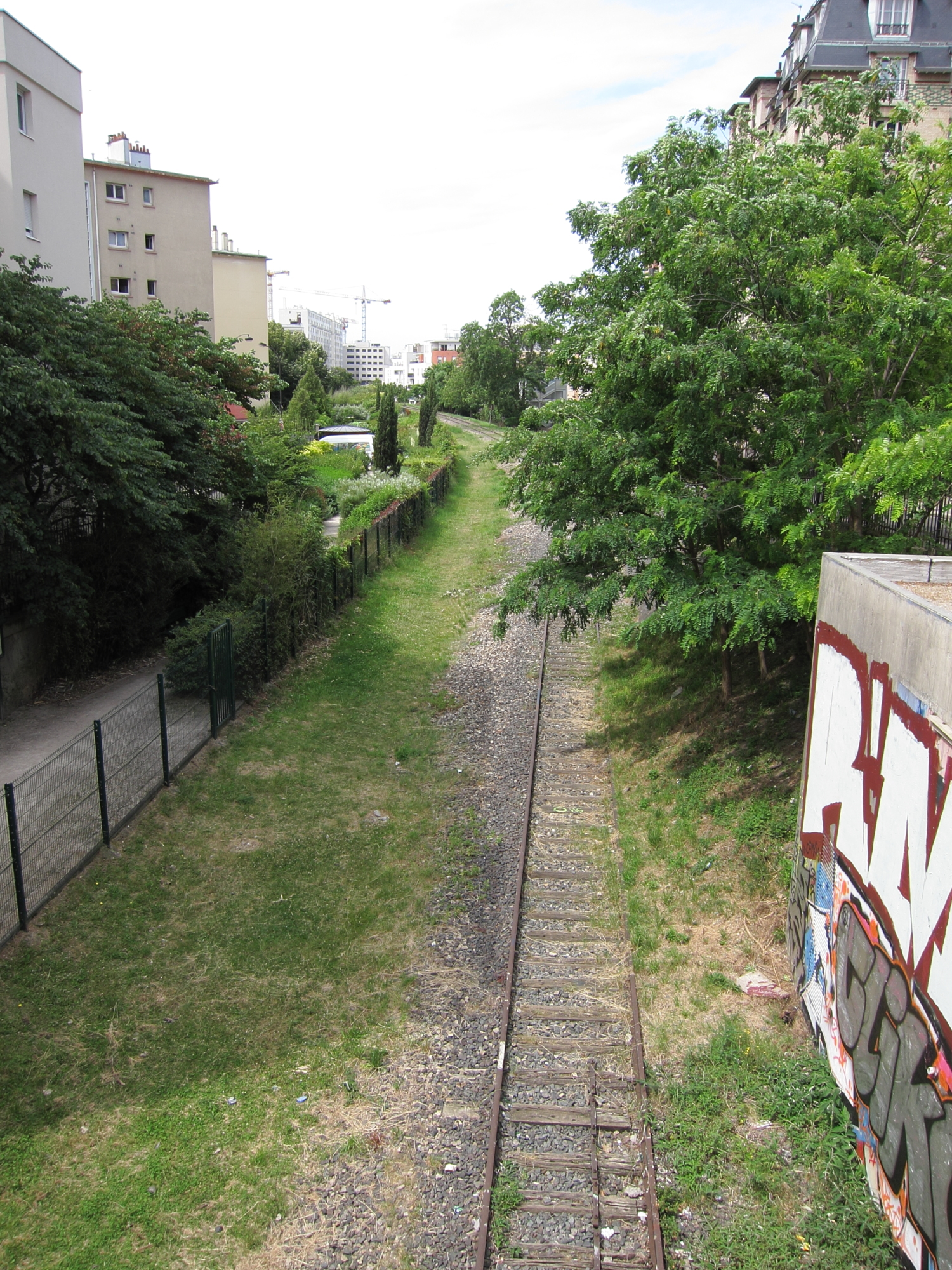 The Petite Ceinture, and abandoned railroad line that circles Paris.