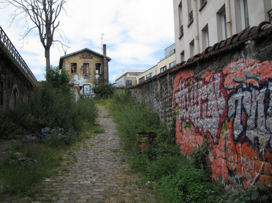 The abandoned Port de Flandres railway station on the Petite Ceinture in Paris.  A bit of a fixer-upper...