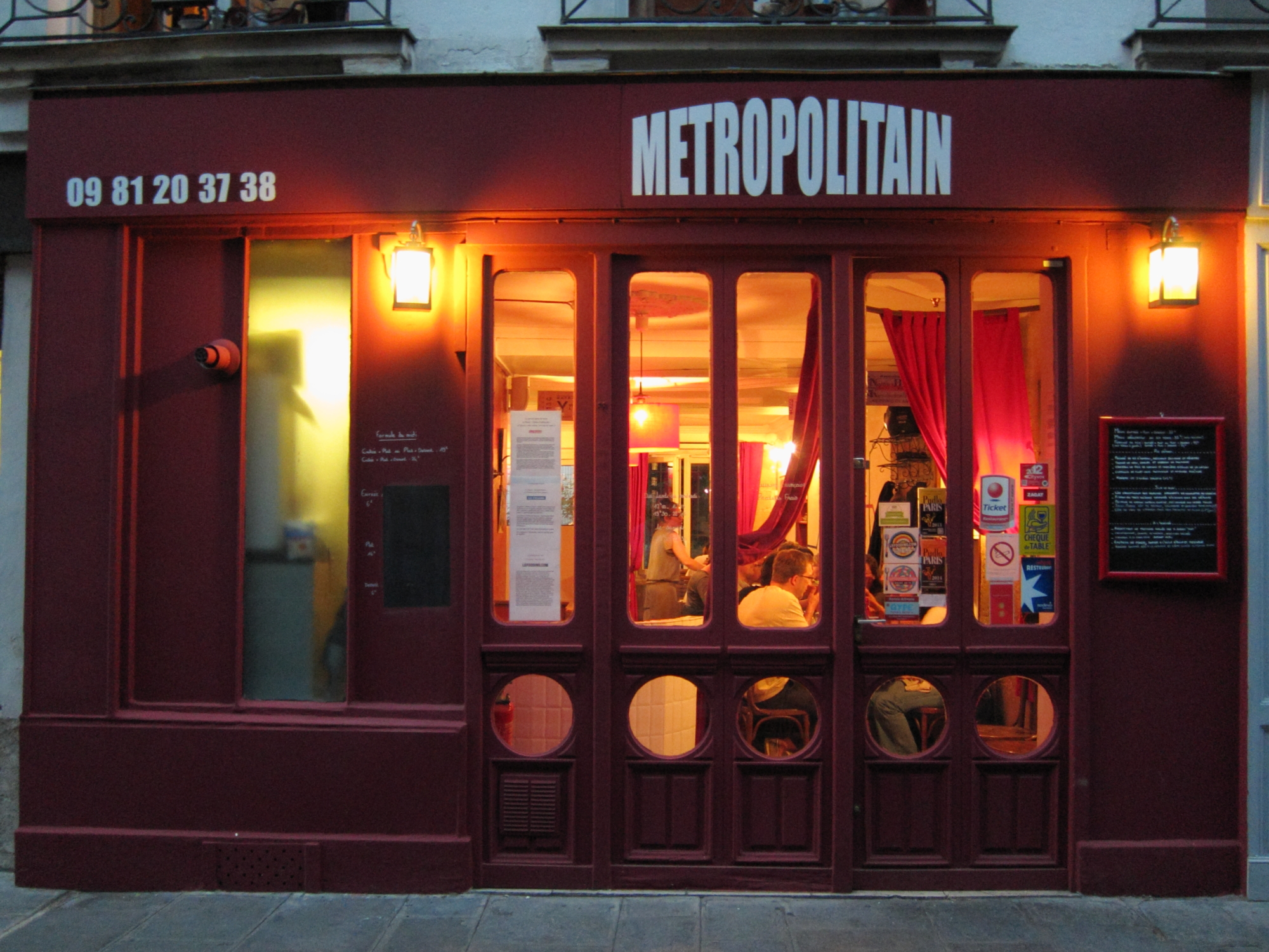 Metropolitan, just down the street from my Paris apartment.