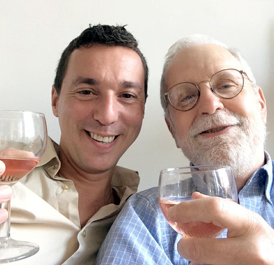 Sylvain and Bob selfie with a refreshing rosé.