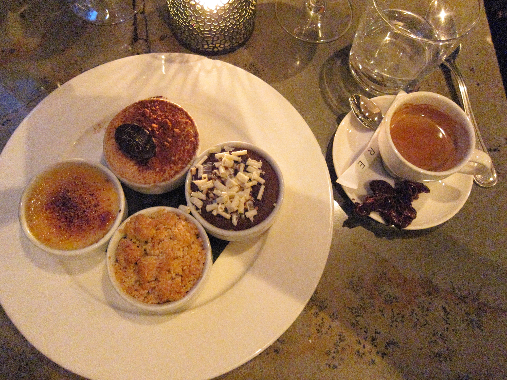 Café gourmand at Pamela Popo in Saint-Paul. The best I've ever had!