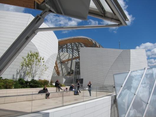 Upper terrace of Fondation Louis Vuitton.
