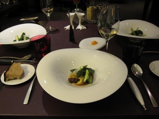 Second course at Restaurant Hélène Darroze.