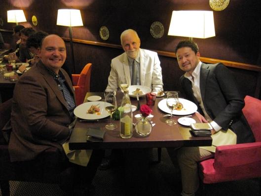 Nick, me and Taka at Restaurant Hélène Darroze.