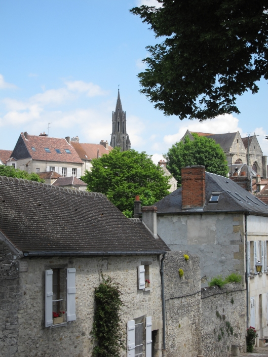 The cathedral -- started in the 12th century several years before Notre Dame de Paris -- is visible from all parts of town.