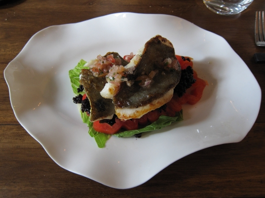 My main course at Tintilou: St. Pierre, which Elliot explained is called