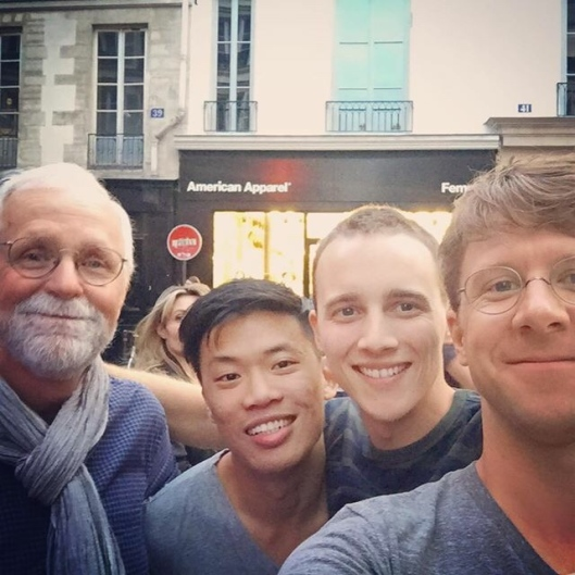 Bob, Joshua, Sawyer and Seth at la Fête de la Musique, Paris, June 21, 2015.