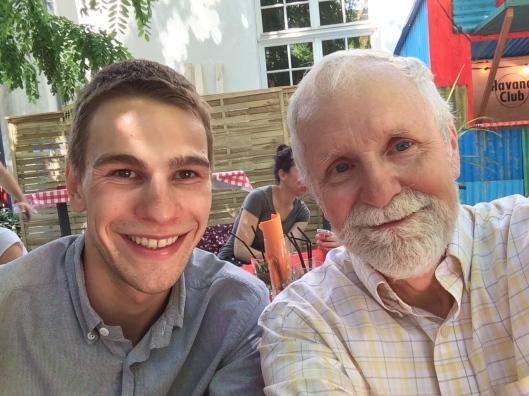 Martin and Bob at Café A.