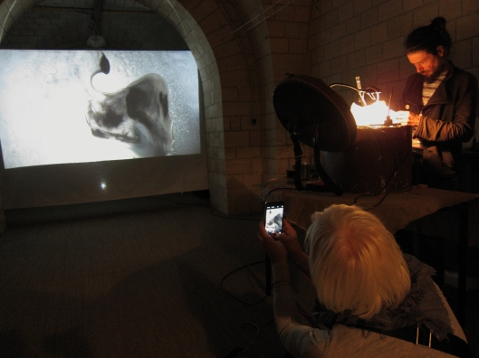 Art performance as part of Belleville Open Studios.