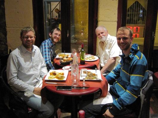 Chris Miller, Allen Hamrick, Bob Mack and Matt Wagner at Equinox in the Marais.